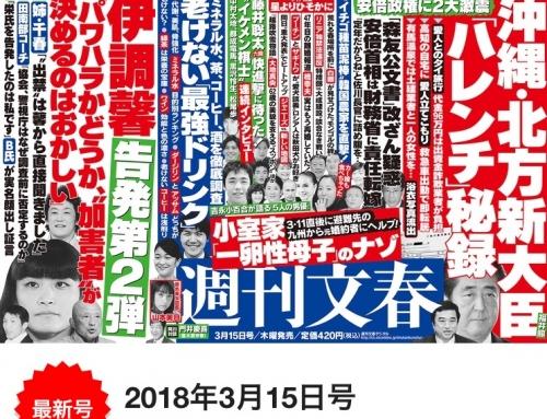 【噂の!東京マガジン】にて「週刊文春・老けない最強ドリンク」掲載記事が紹介されました